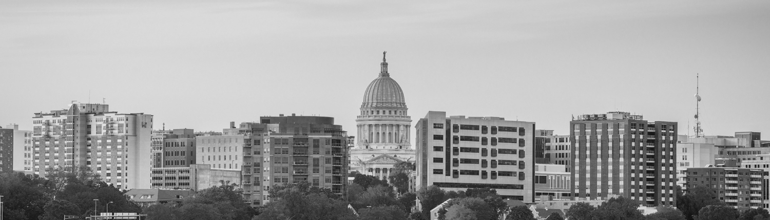 National law firm in Madison, Wisconsin skyline